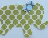 Iron or Sew On Polka Dot Elephant Applique