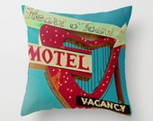 Heart o' Town Neon Sign Pillow Cover | Mid Century Modern Decor