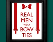 Doctor Who Inspired Bow Tie Poster - 8x10 - RisaRocksIt