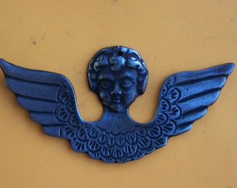 Tin/Silver Angel with Wings Milagro Ex Voto