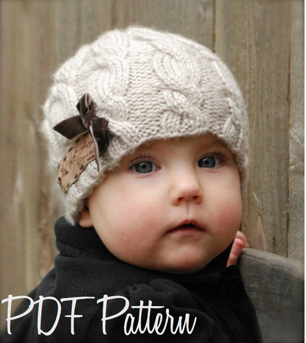 Children s Knitted Hat Patterns : Knitting PATTERN-The Ella Hat Toddler Child Adult sizes