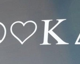 Peace Love Kappa Delta Decal