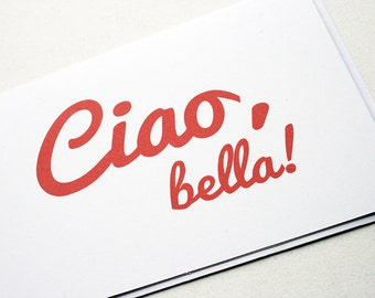 Ciao, bella -- Set of Two Cards & Envelopes in Classic White -- PS Salutations