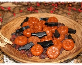 SPICED PUMPKIN Scented Primitive Crows & Pumpkins Wax Tarts Melts -Fall Bowl Fillers