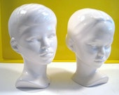 Vintage HOLLAND MOLD   Boy and Girl Busts Pair