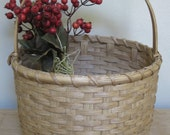 Storage Basket-Round Basket-Handwoven Basket-Gathering Basket- Large