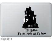 The Burrow It's Not Much But It's Home Decal