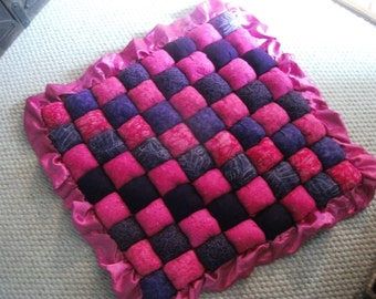 Puff Quilt for baby, extremely soft and puffy for extra comfort on the floor, park and crib