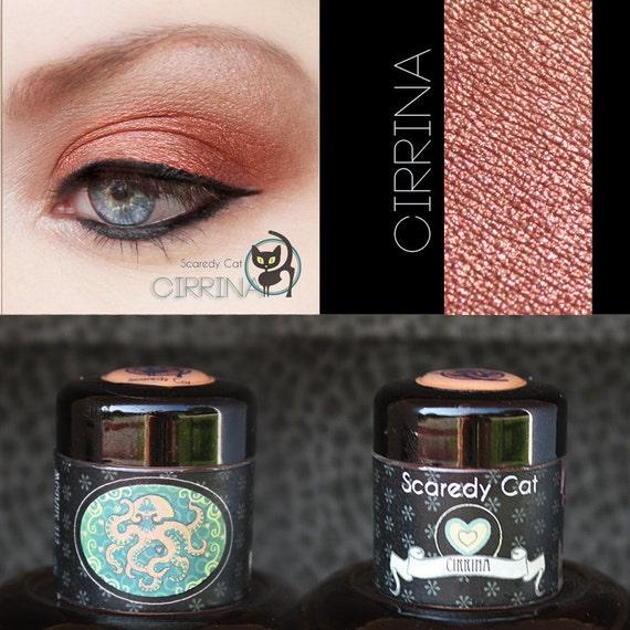 Copper Eye Shadow - Vegan - Loose Mineral Pigment Eyeshadow - Scaredy Cat - CIRRINA - 5 mL Sifter