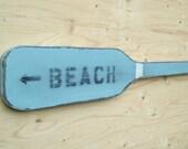 boat oar wood paddle BEACH