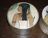 Metallic Gold Egyptian Trinket Box