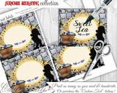 Snow White Party Candy Buffet Signs by Cutie Putti Paperie