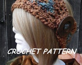 Crochet Pattern Headband Earwarmer Boho Bohemian Hippie Head Gear INSTANT PDF DOWNLOAD file