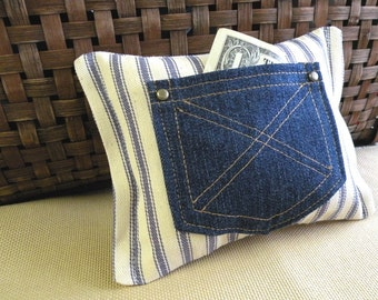 Gift for Boys Western Style Tooth Fairy Pillow - Farmhouse - Rustic
