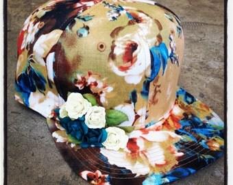 rojas new floral lana del rey snapbacks .florals flower hat . flowers caps..baseball hats snapback