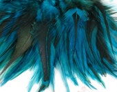 Feathers Blue badger saddle hackles 3 to 5 inches