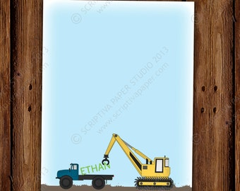 Muddy Truck and Tractor Stationery - Thank You Notes - Boy Stationary Set