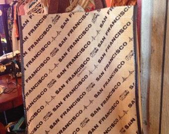 Vintage Bag. Recycle Bag. Tote. San Francisco Vintage Tweed Tote Bag.