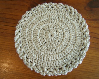 Table doily, hot pad, trivet, natural