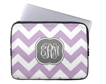 Personalized Laptop Sleeve- MacBook Air Pro- Monogram Tablet Case, Monogram Laptop Case