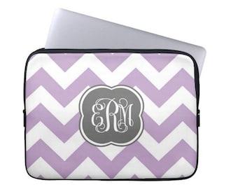 Personalized Laptop Sleeve- MacBook Air Pro- Monogram Tablet Case, Monogram Laptop Case, sorority gift