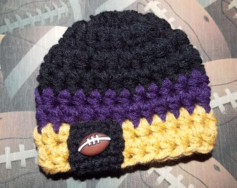 Baltimore Ravens inspired baby hat -  team sports - team props