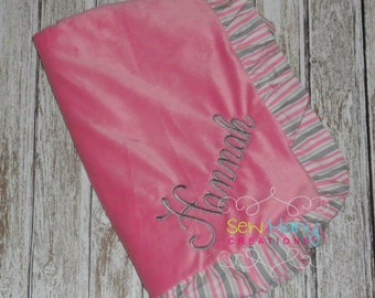 Monogrammed Baby Boy/Girl Blanket Personalized
