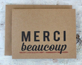 Merci Beaucoup Card - Thank You Card