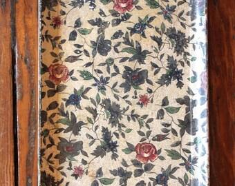 Cutie... Vintage Asian Floral Tray, Vintage Decor, Home Decor
