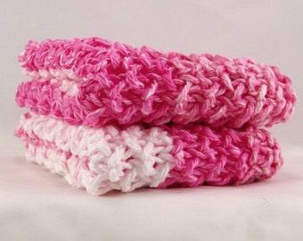 Hand knit cotton dishcloth - washcloth, spa cloth - kitchen or bath - gift for her - Sandy Coastal Designs - ready to ship