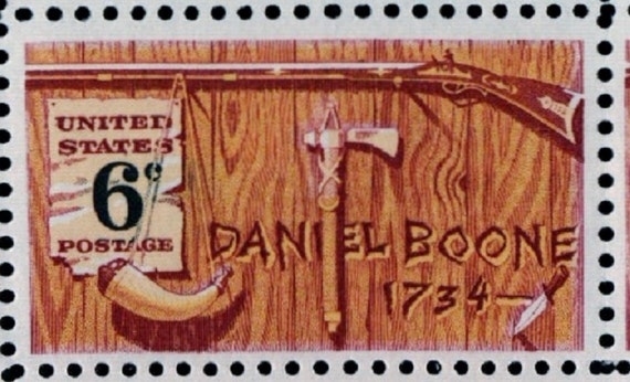 Daniel Boon 1734 6 Cent US Postage Stamp Group of 10