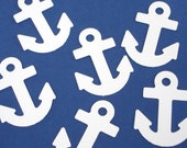 20 Large White Anchor die cuts punch confetti scrapbook embellishments - No1033