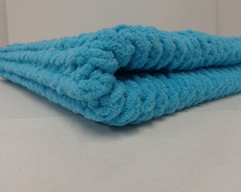 Knitted Baby Blanket  - Baby Teal