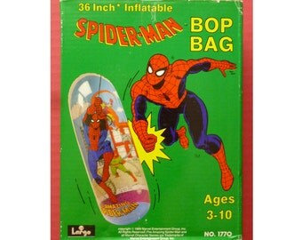 1989 Spiderman Bop Bag, unopened NOS sparing punch bag for kids