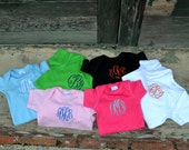 MONOGRAMMED Short Sleeve Baby Onesies - Great for baby showers - Baby Shower Gift - Newborn - Coming Home Outfit - First Birthday