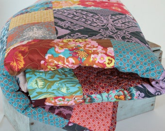 Autumn Colors Modern Patchwork Quilt, Anna Maria Horner LouLou Thi Quilt