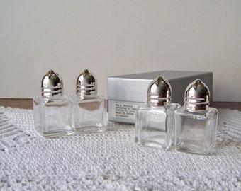 Vintage Salt and Pepper Shaker Sets NIB Wedding Shakers Box of Shakers Rogers Vintage 1960s