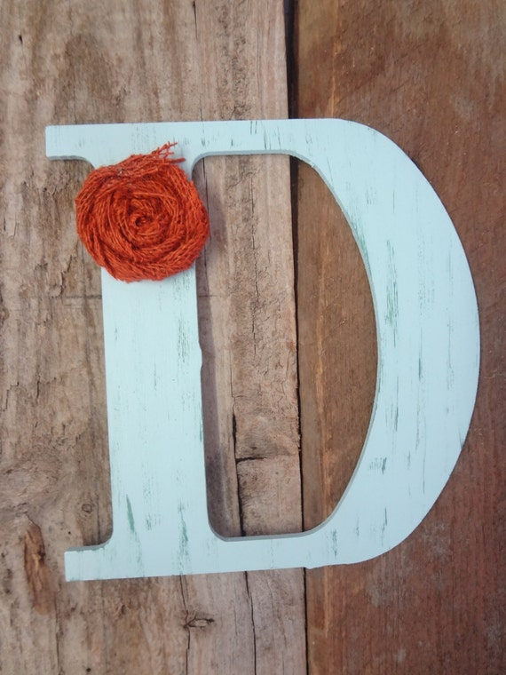 wooden letter d wood letter rustic chic wooden letter d burnt orange burlap 25673