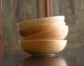 Japanese Wooden Bowls // Set of four // Mid Century - gardenofsimples