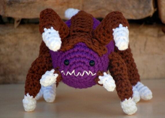 Amigurumi Starcraft : Items similar to Amigurumi Zergling Plush Toy, Stuffed ...