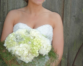 Bridal Bouquets   Hydrangea Birdal Bouquets    Wedding Bouquets   Hand Tied Bridal Bouquets