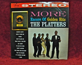 THE PLATTERS - More Encore of Golden Hits - 1960 Vintage Vinyl Record Album