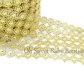 Acrylic Floral Lace Trim 1ft. Gold