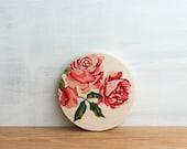 Paint by Number Circle Art Block 'Vintage Roses' - floral, vintage flowers, pink roses