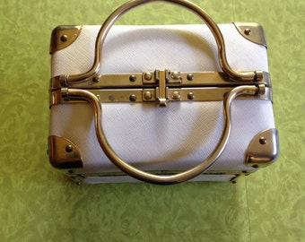 Borsa Bella. 60's . White. Made In Italy. Vintage