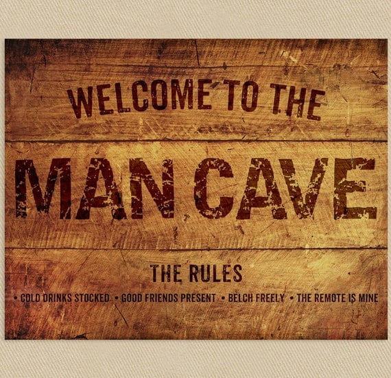 Man Cave Signs Images : Man cave sign wall art printable add a name to