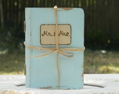 Personalized wedding ring book box Ring Bearer Wedding book box Hand painted Rustic Primitive