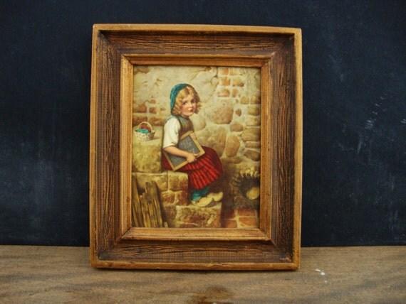 Little Dutch school Girl Framed Print
