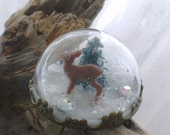 Under The Dome Snow Globe Ring - TazasTreasures