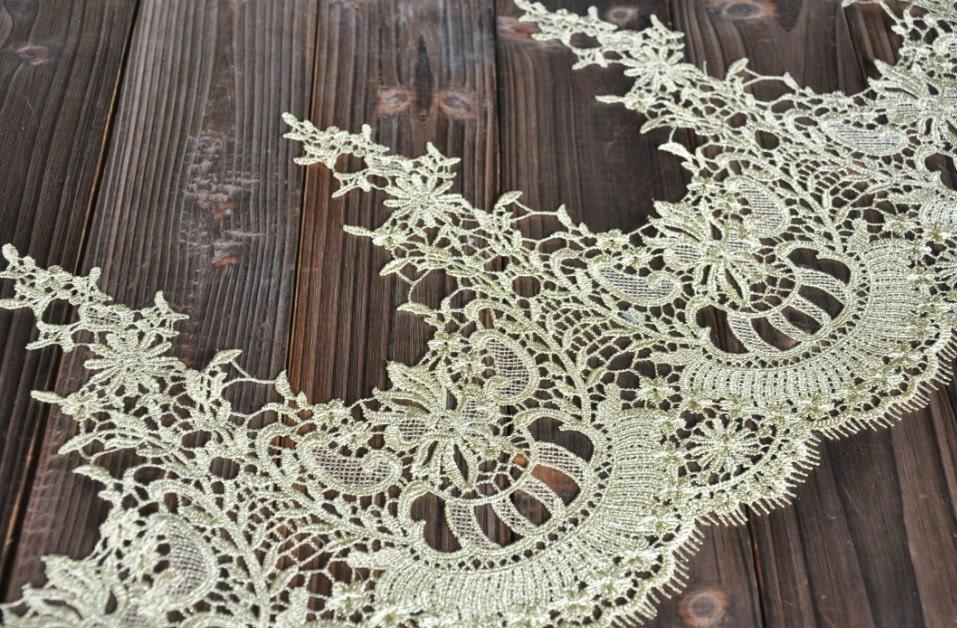 Gold Lace Trim Gorgeous Baroque Embroidered Lace Trim Antique
